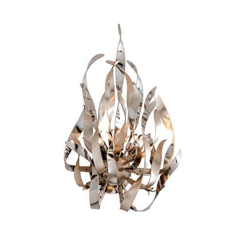 Corbett Lighting Corbett Lighting Graffiti Silver Leaf and Poli Sconce 154-12