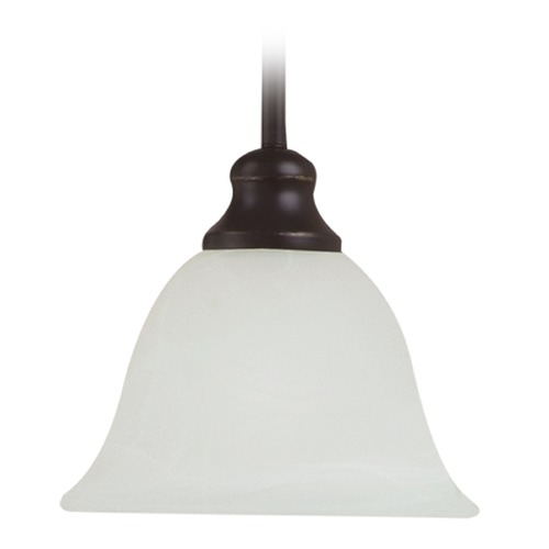 Sea Gull Lighting Mini-Pendant Light with Alabaster Glass 61940BLE-782