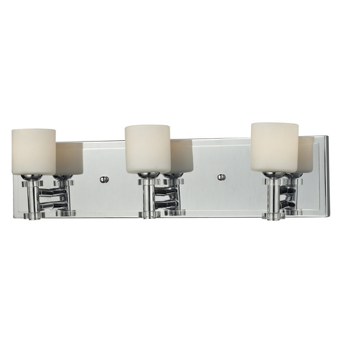 Elk Lighting Bathroom Light with White Glass in Chrome Finish 84072/3