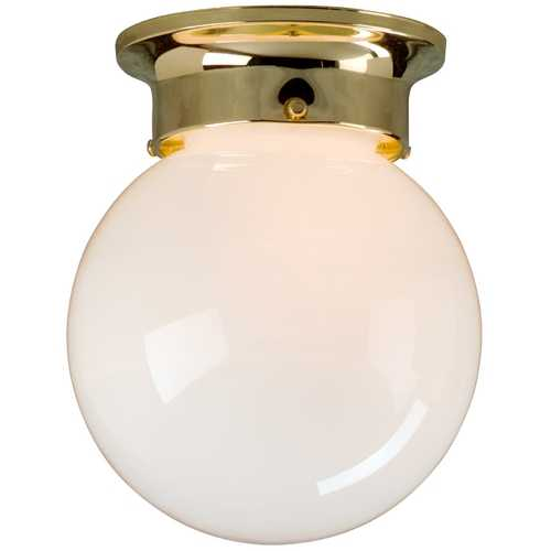 Design Classics Lighting 6-Inch Globe Ceiling Light 106 PB    SC SF77-108 POLISH BRS