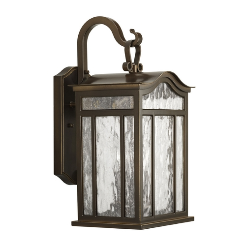 Progress Lighting Water Seeded Glass Outdoor Wall Light Oil Rubbed Bronze Progress Lighting P5717-108