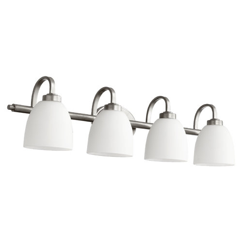 Quorum Lighting Quorum Lighting Reyes Classic Nickel Bathroom Light 5060-4-64