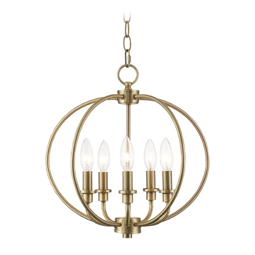 Livex Lighting Livex Lighting Milania Antique Brass Pendant Light 4665-01
