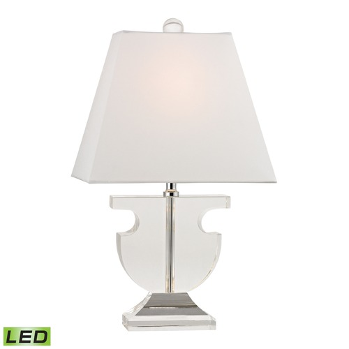 Dimond Lighting Dimond Lighting Clear LED Table Lamp with Rectangle Shade D2485-LED