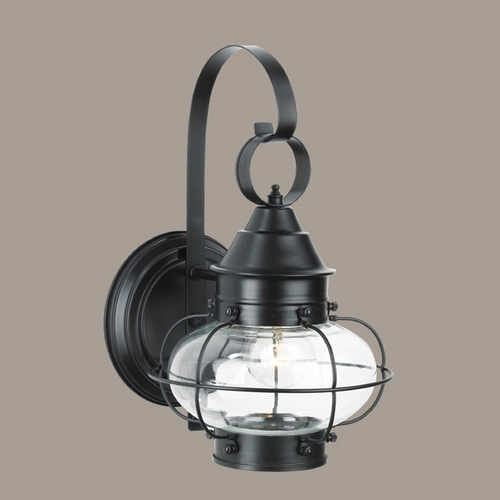 Norwell Lighting Norwell Lighting Cottage Onion Black Outdoor Wall Light 1323-BL-CL