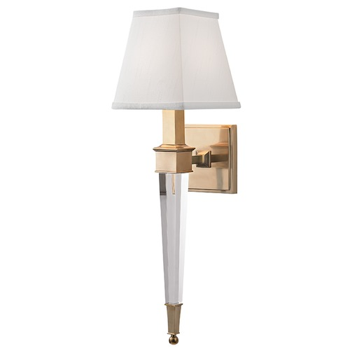 Hudson Valley Lighting Ruskin 1 Light Sconce Square Shade - Aged Brass 2401-AGB