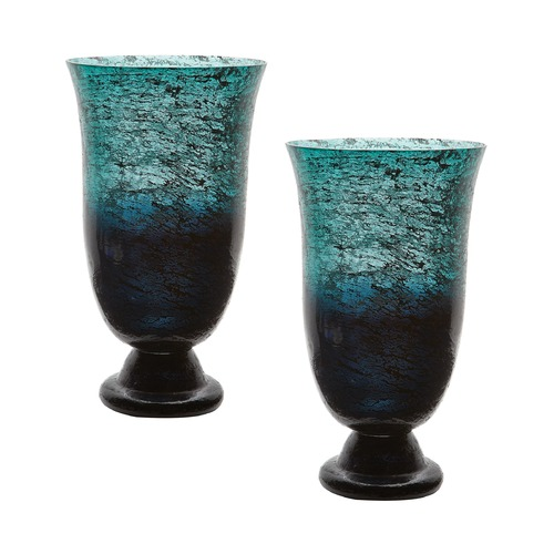 Dimond Lighting Emerald Ombre Flared Vase - Set Of 2 876022/S2