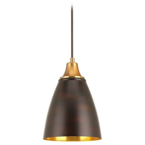 Progress Lighting Farmhouse LED Mini-Pendant Light Bronze Pure by Progress Lighting P5175-2030K9