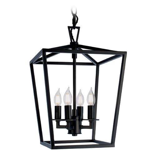 Norwell Lighting Norwell Lighting Cage Matte Black Pendant Light 1080-MB-NG