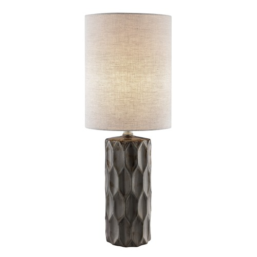 Lite Source Lighting Lite Source Halsey Gun Metal Table Lamp with Cylindrical Shade LS-23190G