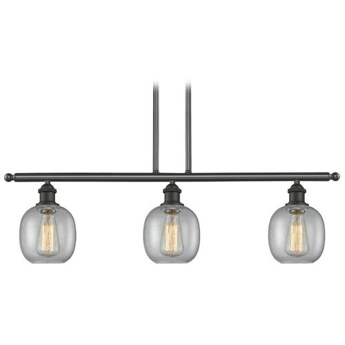 Innovations Lighting Innovations Lighting Belfast Oil Rubbed Bronze Island Light with Globe Shade 516-3I-OB-G104