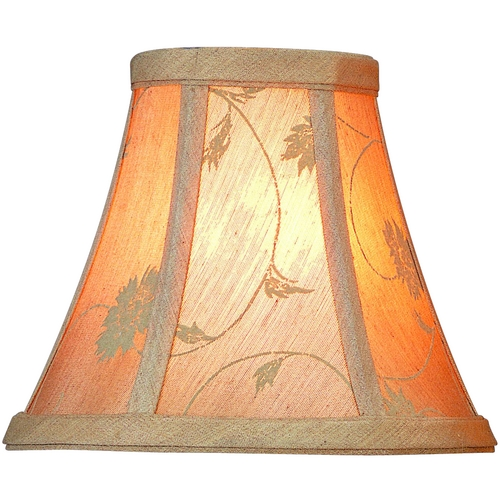 Lite Source Lighting Beige Jacquard Bell Lamp Shade with Clip-On Assembly CH554-6