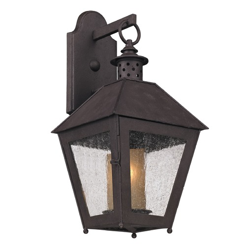 Troy Lighting Outdoor Wall Light with Clear Glass in Centennial Rust Finish B3292
