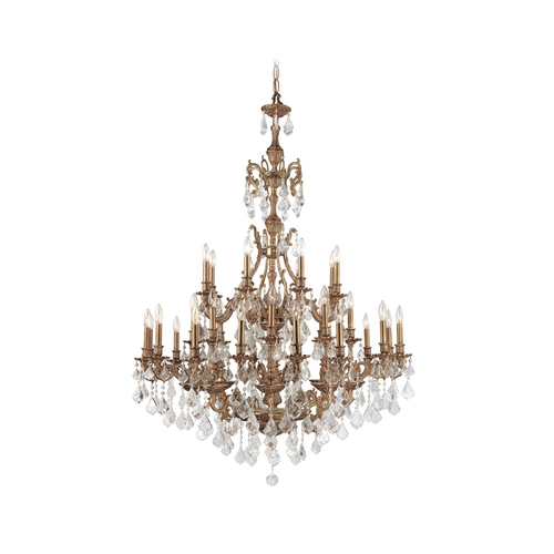 Crystorama Lighting Crystal Chandelier in Aged Brass Finish 5147-AG-CL-MWP