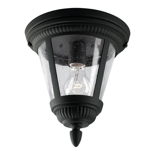 Progress Lighting Progress Close To Ceiling Light with Clear Glass in Black Finish P3883-31