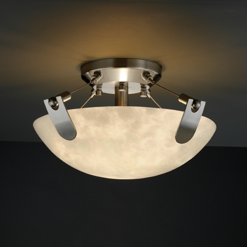 Justice Design Group Justice Design Group Clouds Collection Semi-Flushmount Light CLD-9610-35-NCKL