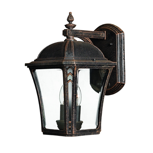 Hinkley Lighting LED Outdoor Wall Light with Clear Glass in Mocha Finish 1334MO-LED