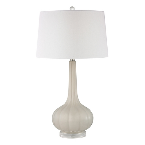 Dimond Lighting LED Table Lamp with White Shades in Off White Finish D2458-LED