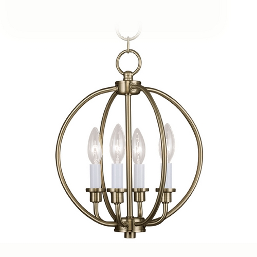 Livex Lighting Livex Lighting Milania Antique Brass Pendant Light 4664-01