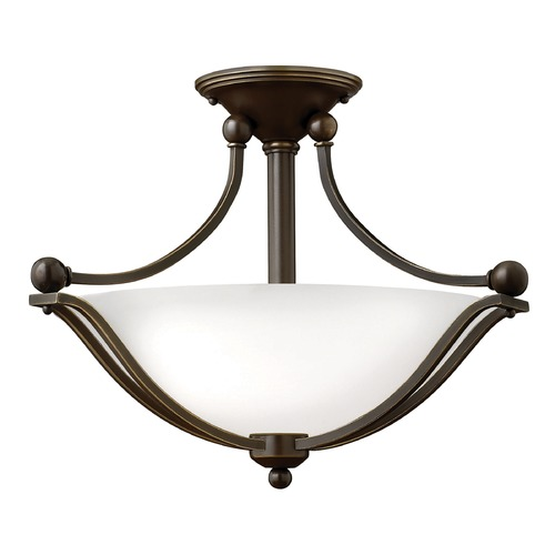 Hinkley Lighting Hinkley Lighting Bolla Olde Bronze Semi-Flushmount Light 4651OB-OPAL