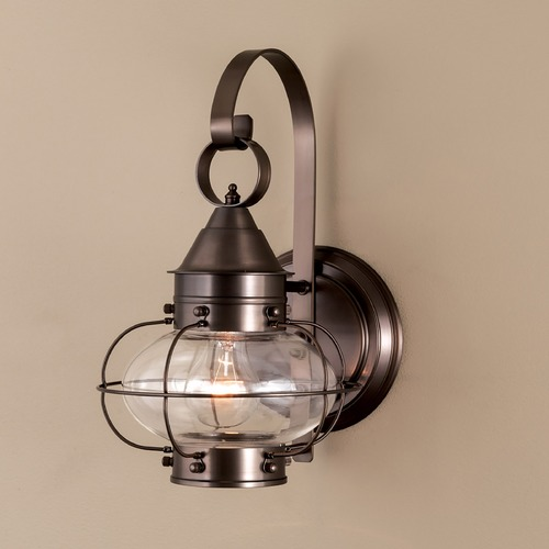Norwell Lighting Norwell Lighting Cottage Onion Bronze Outdoor Wall Light 1323-BR-CL
