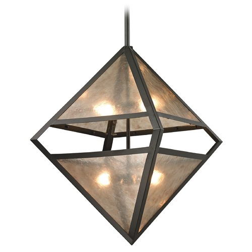 Elk Lighting Elk Lighting Mica Oil Rubbed Bronze Pendant Light 66941/4