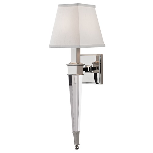 Hudson Valley Lighting Ruskin 1 Light Sconce Square Shade - Polished Nickel 2401-PN