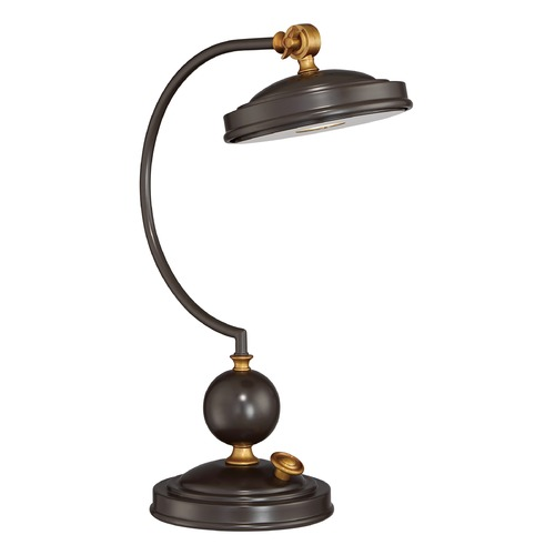 Quoizel Lighting Quoizel Lighting Quoizel Portable Lamp Western Bronze Table Lamp with Bowl / Dome Shade Q2125TWT