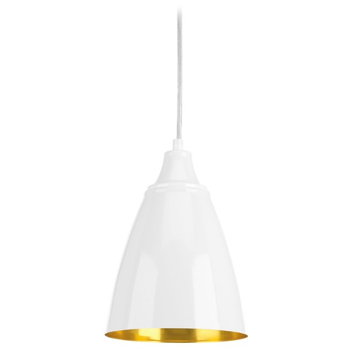 Progress Lighting Progress Lighting Pure White LED Mini-Pendant Light with Bowl / Dome Shade P5175-3030K9