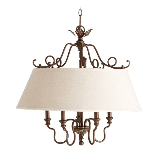 Quorum Lighting Quorum Lighting Salento Vintage Copper Pendant Light with Empire Shade 6306-5-39