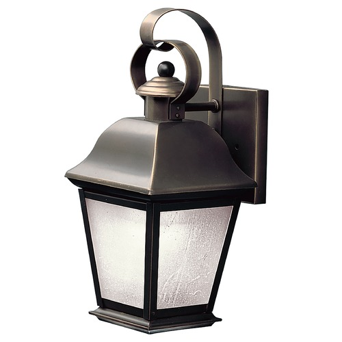 Kichler Lighting Kichler Outdoor Wall Light with White Glass in Olde Bronze Finish 10907OZ