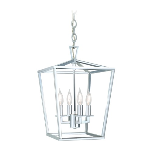 Norwell Lighting Norwell Lighting Cage Polished Nickel Pendant Light 1080-PN-NG