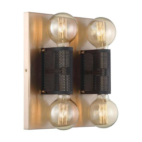 Nuvo Lighting Nuvo Lighting Passage Copper Brushed Brass / Black Sconce 60/6663
