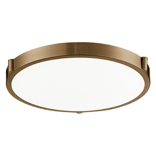 Kuzco Lighting Modern Vintage Brass LED Flushmount Light with White Opal Shade 3000K 850LM 501122-VB