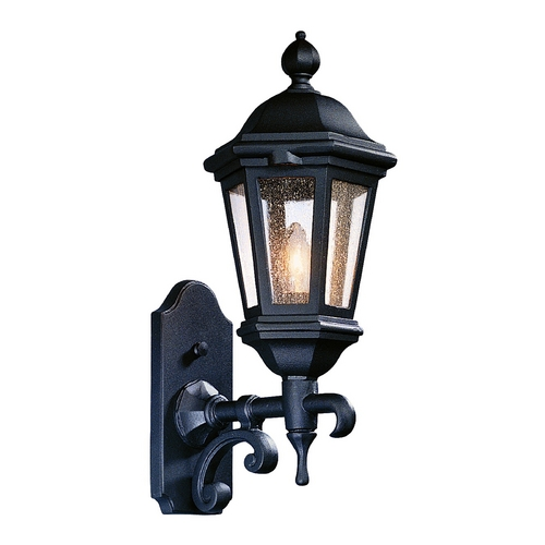 Troy Lighting Outdoor Wall Light with Clear Glass in Antique Bronze Finish BCD6830ABZ