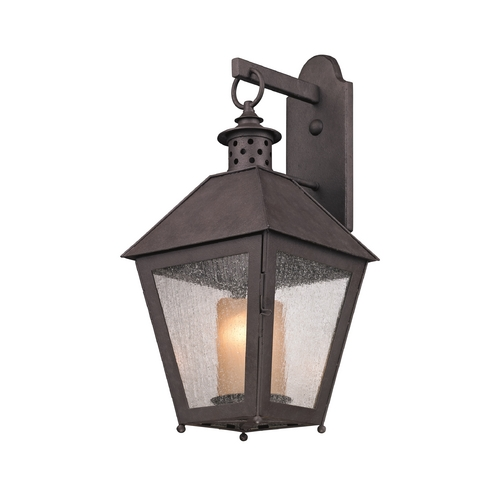 Troy Lighting Outdoor Wall Light with Clear Glass in Centennial Rust Finish B3293