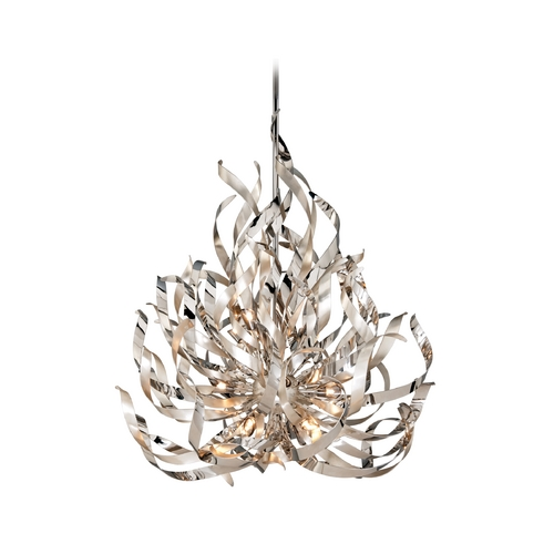 Corbett Lighting Corbett Lighting Graffiti Silver Leaf and Poli Island Light 154-412
