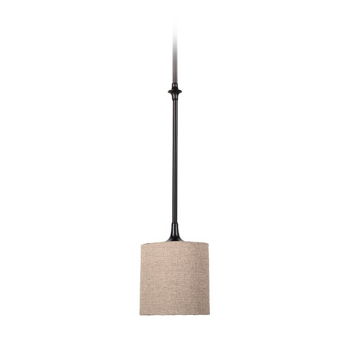 Sea Gull Lighting Mini-Pendant Light with Beige / Cream Shade 61952-710