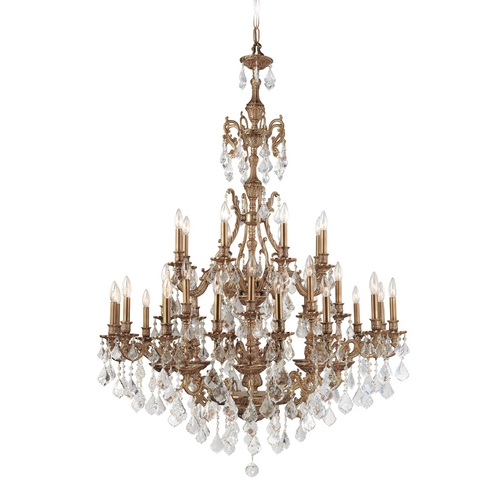 Crystorama Lighting Crystal Chandelier in Aged Brass Finish 5147-AG-CL-S