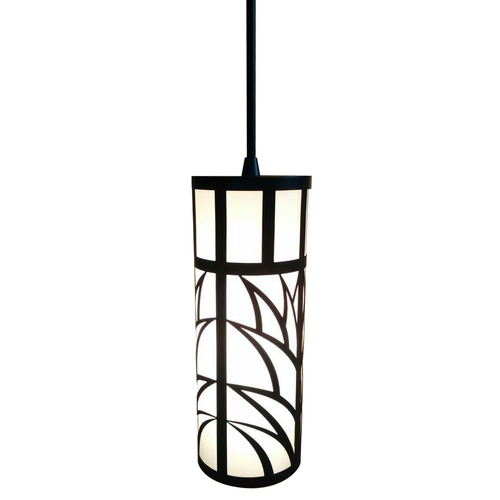 Dolan Designs Lighting Black Mini-Pendant with Laser Cut Shade 1161-07