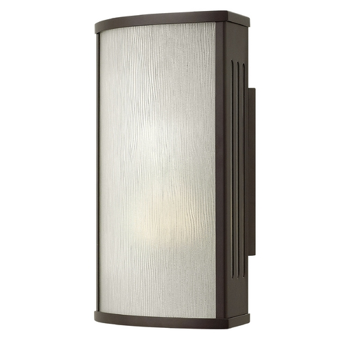 Hinkley Lighting Outdoor Wall Light with White Glass in Bronze Finish 2110BZ-GU24