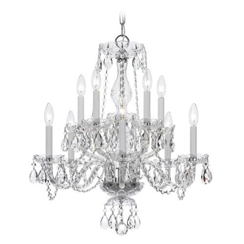 Crystorama Lighting Crystorama Lighting Traditional Crystal Polished Chrome Chandelier 5080-CH-CL-SAQ