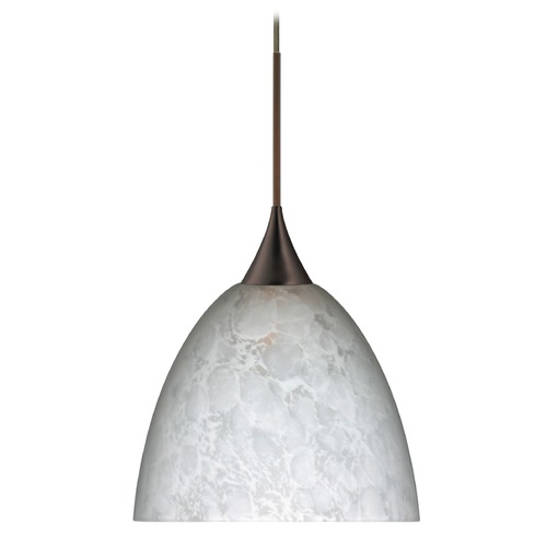 Besa Lighting Besa Lighting Sasha Bronze LED Pendant Light with Bell Shade 1XT-757019-LED-BR