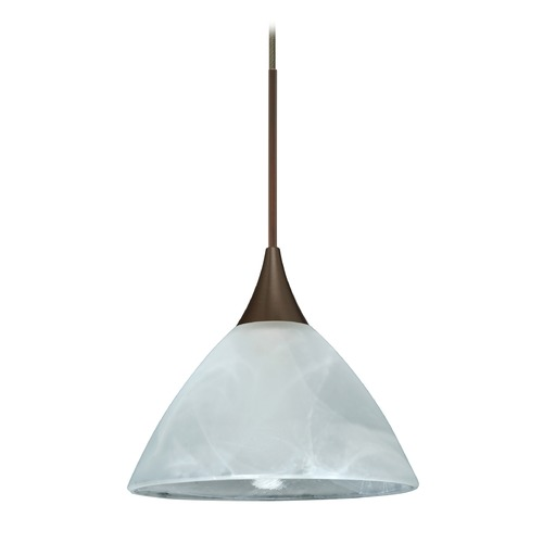 Besa Lighting Besa Lighting Domi Bronze LED Mini-Pendant Light with Bell Shade 1XT-174352-LED-BR