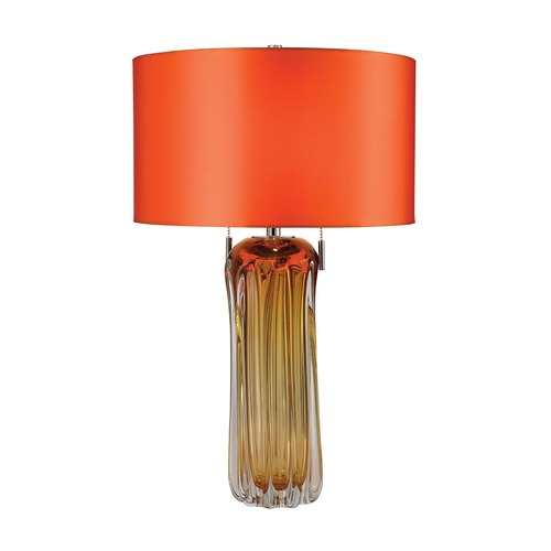 Dimond Lighting Dimond Lighting Amber Table Lamp with Drum Shade D2660