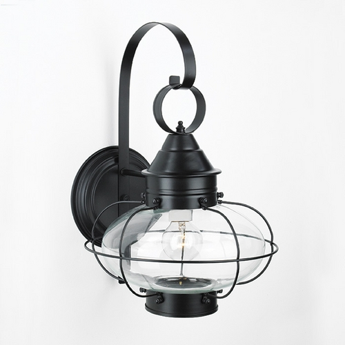Norwell Lighting Norwell Lighting Cottage Onion Black Outdoor Wall Light 1324-BL-CL