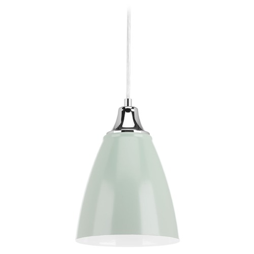 Progress Lighting Progress Lighting Pure Pistachio LED Mini-Pendant Light with Bowl / Dome Shade P5175-7930K9