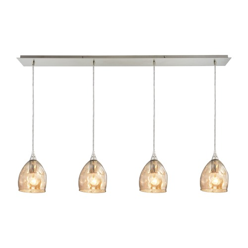 Elk Lighting Elk Lighting Niche Satin Nickel Multi-Light Pendant with Bowl / Dome Shade 31595/4LP