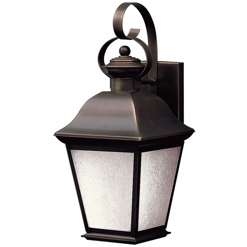 Kichler Lighting Kichler Outdoor Wall Light with White Glass in Olde Bronze Finish 10908OZ
