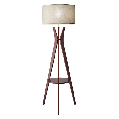 Adesso Home Lighting Mid-Century Modern Gallery Tray Lamp Solid Walnut Wood Bedford by Adesso Home Lighting 3471-15